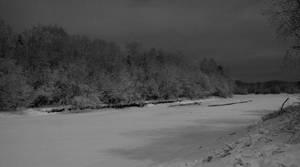 Winter Eve at Gubb, II - bw by Datasmurf