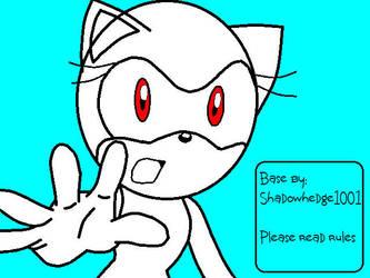Sonic X: Female base 003 by Shadowhedge1001