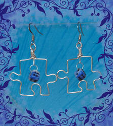 Puzzle Earrings on SALE by Sunlight-Angel