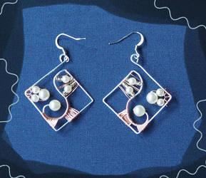Wire Wrap Earrings on SALE by Sunlight-Angel
