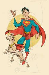 Retro Superboy by jonpinto