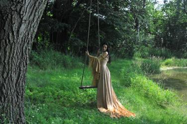 Gold Dress 029 by elusiveelegance