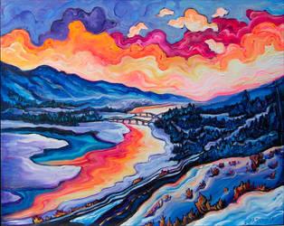 Kamloops Winter by Laurazee