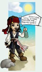 Sketch no2 - Jack Sparrow by ricoche