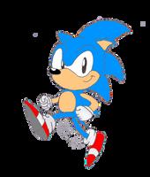 US Classic Sonic-American Sonic by Azulzinho35