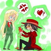 Hellsing- Valentine by FishHeadThe3rdAndCo