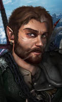 Baldurs Gate: Shadows of Arm- Character Portrait. by Sirick-J-Griffardo