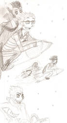 Cast of HiNaBN on Rockets by Yoikodomo
