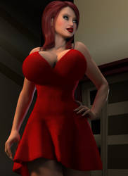 Milena's Red Dress 04 by willdial