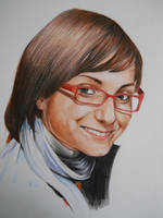 Girl with glasses by Cayasha