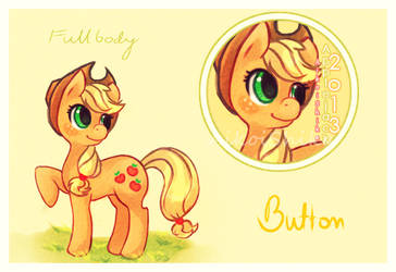 Applejack with new button by husaria-chan