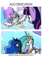 Comic 64: Alicornication by ZSparkonequus