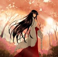 Kikyou - A Beautiful Miko by Cati-Art
