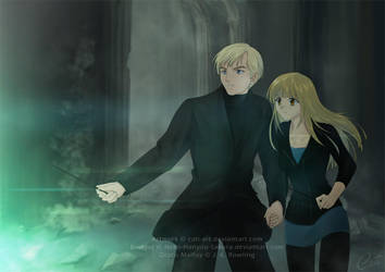 Commission - OC Bridget and Draco Malfoy by Cati-Art