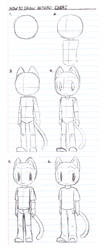 How to draw Anthro Chibi by AnthroArtSchool