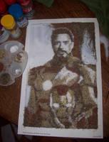 Salt and Pepper Robert Downey Jr as Iron Man by karadin