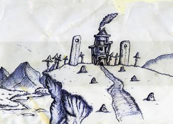 Hillside Temple by Dass88