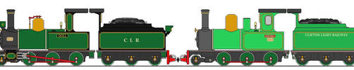 Clifton Light Railway Locos Doll and Aiesha by rusty4472