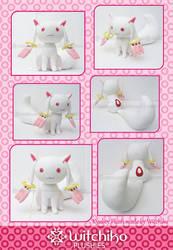 New Kyubey plush::::: by Witchiko