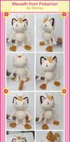 Meowth Plush by Witchiko