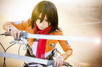Mikasa Ackerman by Witchiko