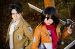 Levi and Mikasa by Witchiko