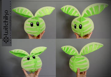 Cabbage Flying Plush by Witchiko