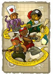 Pirate Teddy Bear Map by travishanson
