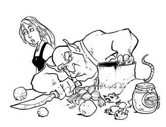 An Ogre Hunting Rats by travishanson