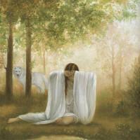 The White Wolf Woman by dkjart