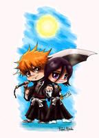 Chibi Ichigo and Rukia by ryster17