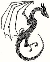Ink Wyvern by dragonspeaker