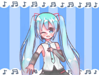 Hatsune Miku by Hephsin-Latte