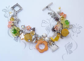 orange and yellow bracelet by cleo72