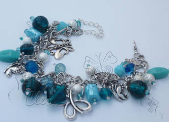 aquamarine bracelet by cleo72
