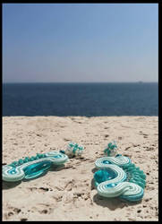 Soutache Errings : on the sea by cleo72