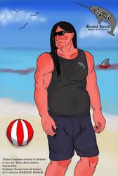 Brutal Beach: Nathan Explosion by CatnipMorgan
