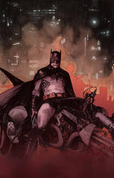 My colours over Olivier Coipel Batman by Roman-Stevens