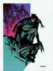 My colours over Chris Samnee Batman by Roman-Stevens