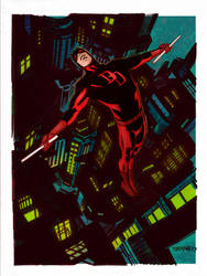 My colours over Chris Samnee Daredevil by Roman-Stevens
