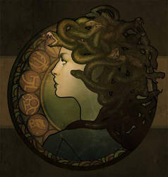 Medusa Nouveau by MeganLara