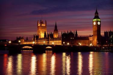 London at Night -- Wallpaper by Lady-Tori