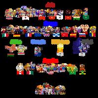 Street Fighter and Darkstalker World by simpleguyfa