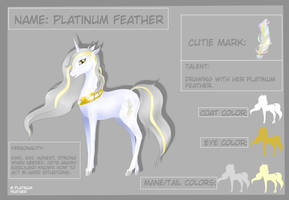 Platinum Feather's updated reference sheet by PlatinumFeather2002