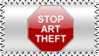 Stop Art Theft Stamp by KenSaunders