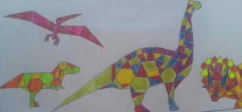 Geometric Dinosaurs by Jurassic-Diary