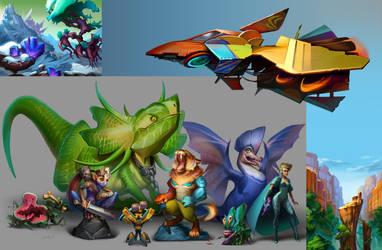All my Works for Concept-artist RPG by Znayduk