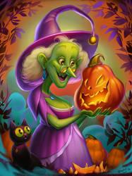 Halloween Witch by Znayduk