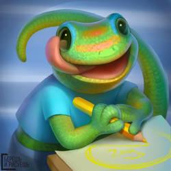 Drawing lizard by Znayduk