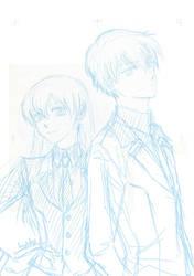 OCs' sketch by SuzieSuzy